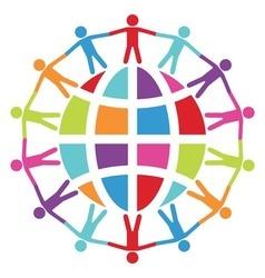 people around world vector image