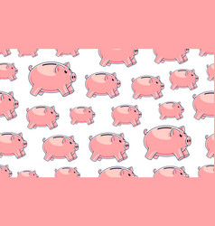 piggy banks seamless background backdrop for vector image