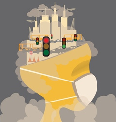 Pollution in the city vector