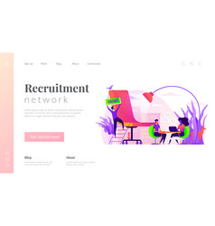 recruitment agency landing page template vector image