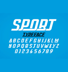 retro style modern sport typeface vector image