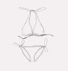 Set swimwear vector