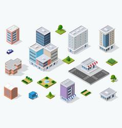 set town district vector image