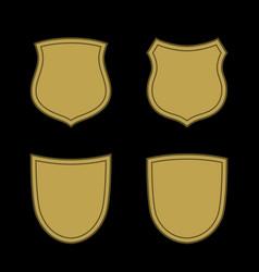 Shield flat icons emblem set vector