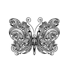 Small butterfly with entangle wings vector
