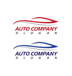 Speed auto car logo template icon vector
