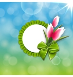 spring time theme vector image