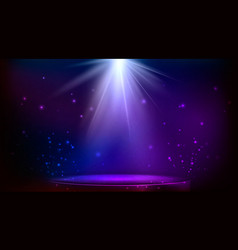 Stage spot lighting magic light blue and purple vector