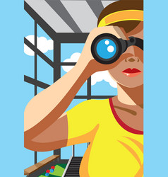 Through the binocular vector