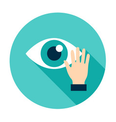 touch eye circle icon vector image
