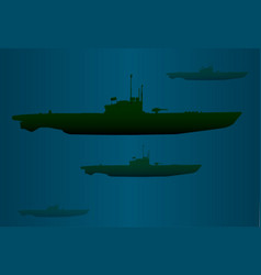U boat wolf pack vector