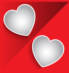 valentines day photo montage background vector image