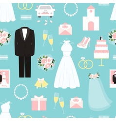Wedding seamless background pattern vector image vector image