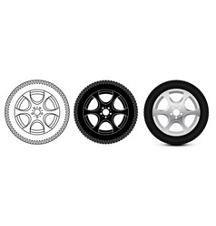wheel with tyre vector image