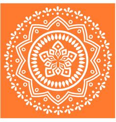 White modern mandala orange background imag vector