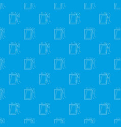 window ventilation pattern seamless blue vector image