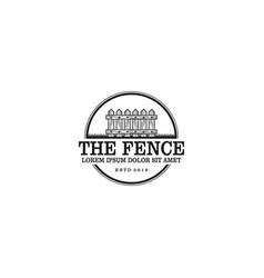 Wood fence logo design vintage logo design vector