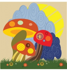 abstract fungus vector image vector image