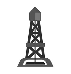 oil rig oil industry production equipment flat vector image
