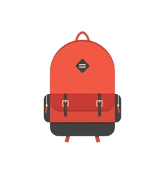 red backpack isolated on white background vector image