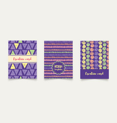 template ethnic creative cards vector image vector image