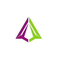 abstract triangle construction business technology vector image