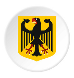 coat of arms of germany icon circle vector image vector image