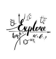 explore hand drawn positive quote vector image