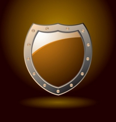 secure shield blank vector image vector image