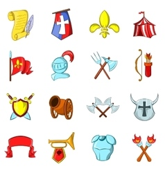 The middle ages icons set vector image