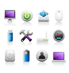 titaniun computer icons vector image vector image