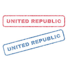 united republic textile stamps vector image vector image