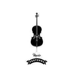 violin icon music symbol music festival text vector image vector image