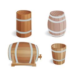wooden barrel vintage old style oak storage vector image
