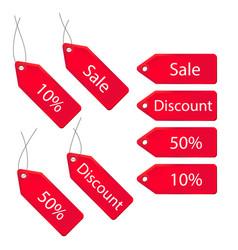 3d discount labels set vector image