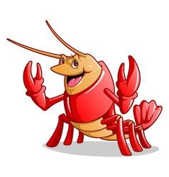 Happy Lobster vector image vector image