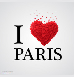 i love paris heart sign vector image vector image