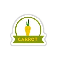 Label icon on design sticker collection carrot vector image