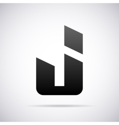 logo for letter J Design template vector image