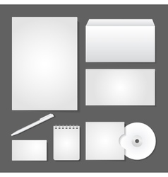 Office supply set design vector image