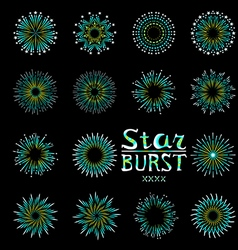 Party holiday event firework icon flat set vector image