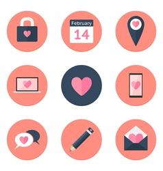 Valentines Day Icon Set vector image