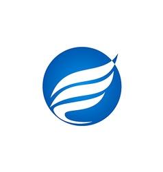 abstract wing fly bird company logo vector image vector image