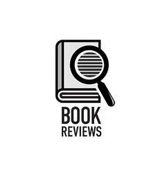 Book reviews service logo template Search inside vector image vector image