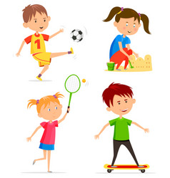 children or kids activity at playtime vector image