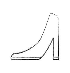 Femenine shoe heel icon vector