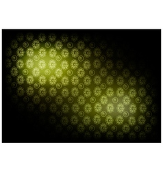 Green Vintage Wallpaper with Flower Pattern vector image