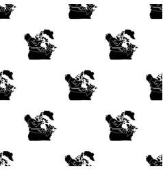 map of canada canada single icon in black style vector image vector image