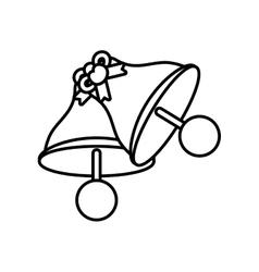 pictogram bells wedding heart bow symbol design vector image