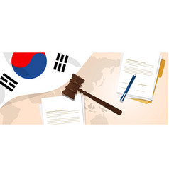 south korea law constitution legal judgment vector image